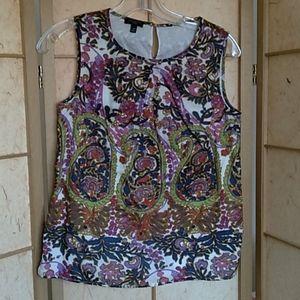 Talbots petite sleeveless blouse sz 2P